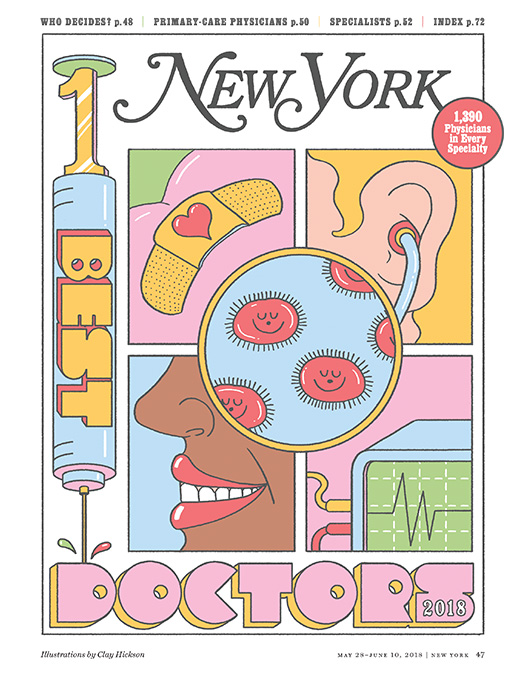 Cover photo for New York Magazine's Best Doctors 2018