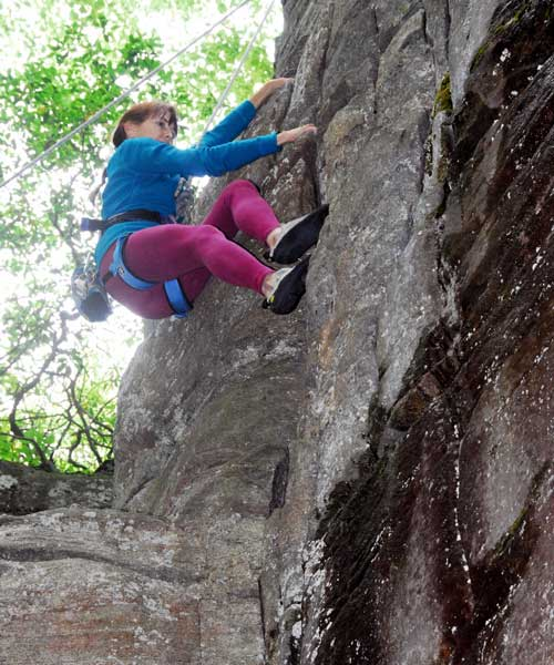 Diane H. rock climing photo